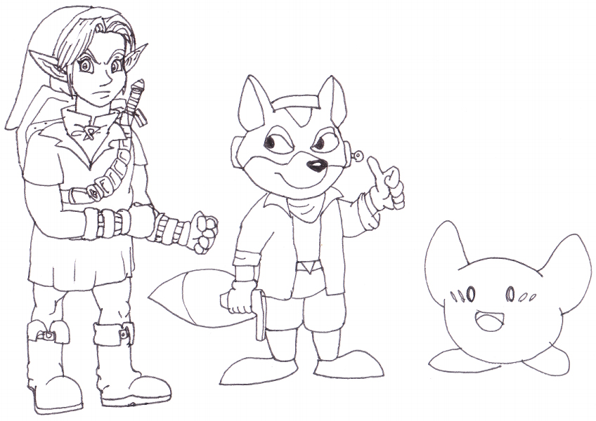 Bros brawl fox colouring pages for Super smash bros brawl coloring pages